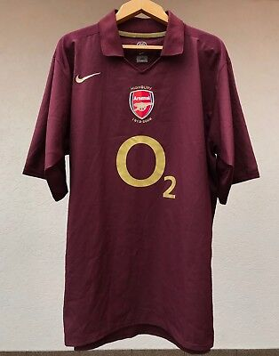 03de80933ef Arsenal London 2005/2006 Home Football Shirt Jersey Camiseta Highbury Nike  Rare