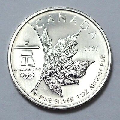 Canada $5 2008 Silver Maple Leaf 1Oz 2010 Vancouver Winter Olympic