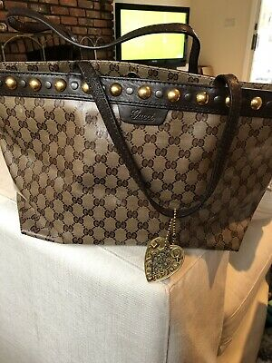 bf93c3765aed AUTHENTIC GUCCI BABOUSKA GG Coated Canvas Medium Boston Tote Handbag ...