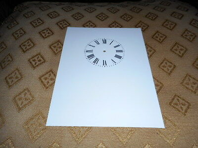"""Carriage Clock Paper Dial-1 3/4"""" M/T-High Gloss White- Face/Clock Parts/Spares #"""