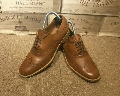 0178273079a0 NEXT BROWN TAN REAL LEATHER Mens Lace Up Shoes Brogues size UK 9 EUR ...