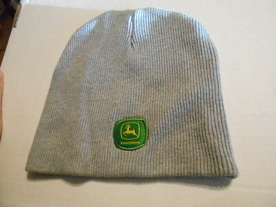 804d145d1633b4 Women Jr John Deere Beanie OSFA Gray Skull Cap One Size Fits All Winter hat