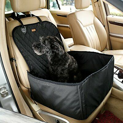 2-in-1 Waterproof Dog Pet Car Seat Covers Washable Pet Booster Seats Cat Carrier