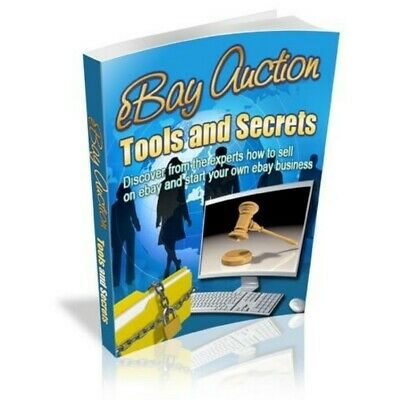 ebay Auction Tools and Secrets - Master Resell Rights 7 bonus ebooks Free Ship