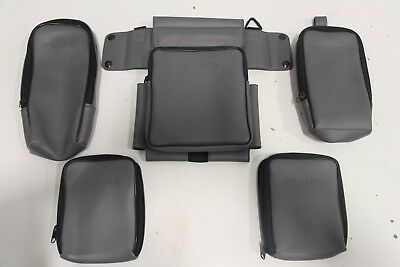 Lot of (5) Fluke Grey Leather Equipment Travel Pack Case Pouches Made in USA
