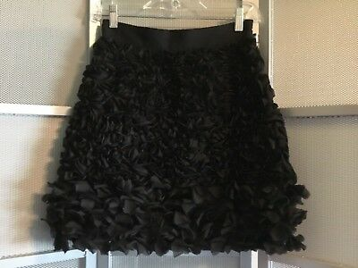4b16043c7ffc GiAMBATTiSTA VALLi impulse Macy's black ribbon ruffle pencil skirt Sz ...
