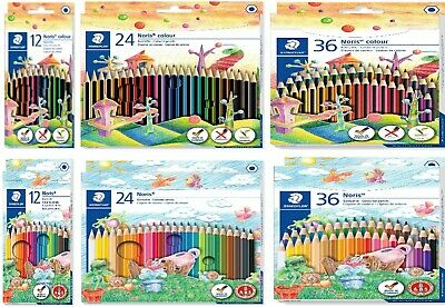 STAEDTLER Colouring Pencils - Noris or Ergosoft - Pack Of 12, 18, 24 or 36