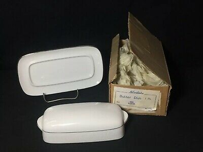 Noritake Tahoe Butter Dish With Original Box Contemporary Fine China