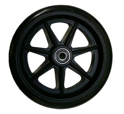 WALKER Replacement Black Wheels 6 Inch 2 Set Urethane Mobility Accessory
