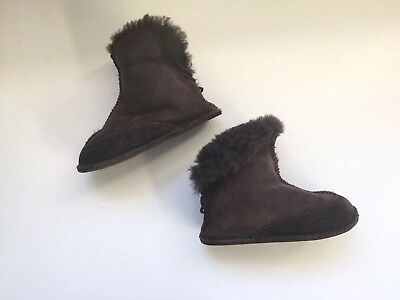 a257c5082d9 UGG BABY'S BOO Chestnut 5206 Sheepskin Toddler Boot Size L 6/7 PREOWNED UGGS