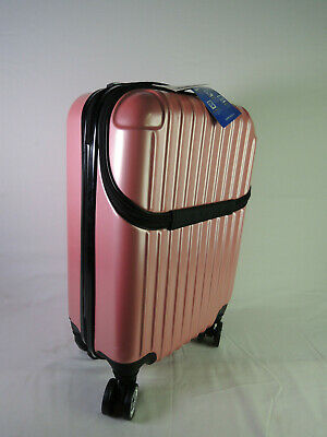 8988f4aad Euro Style Collection IBIZA Luggage Travel Bag ABS Trolley Spinner Suitcase  PINK