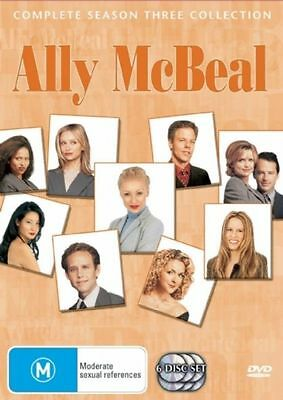 Ally McBeal The Complete Season 3 Collection 6-Disc Set  Region 4 DVD New Sealed