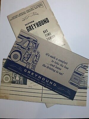 GREYHOUND BUS VINTAGE 1939 Brochure Northern Trips From ...