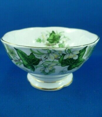 ROYAL ALBERT Made in England  IVY LEA  Sugar bowl OPEN 1950s - 1960