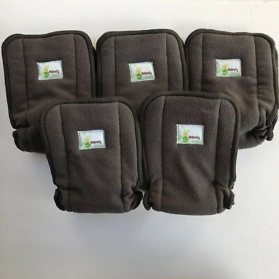 Naturally Nature Diaper Inserts Lot Of 5 Bamboo Fleece Hypoallergenic