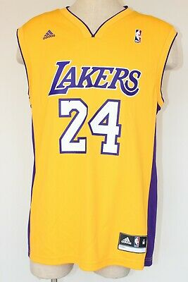 0d6e3e6ea217 Kobe Bryant Los Angeles Lakers NBA Jersey Men M Adidas Gold  24