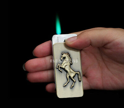 Horse Raised Windproof Jet Torch Lighter Butane Refill Cigar Cigarette Lighters