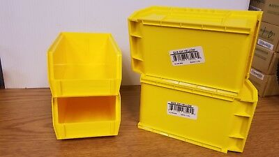 Hang/Stack Bin,7-3/8L x 4-1/8W,Yellow QUANTUM STORAGE SYSTEMS QUS220YL Bst price
