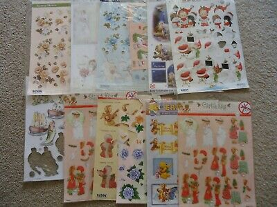 Die-cut 3D sheets for cards & paper craft. 12 sheets or part sheets.