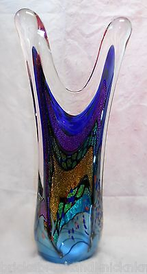 "Rollin Karg Hand-Blown Dichroic 18 1/2"" Art Sculpture, Erotic Piece, Signed!"