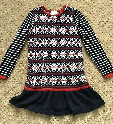 3d8f1957b9 HANNA ANDERSSON GIRL S Fair Isle 130 (8) Sweater Dress