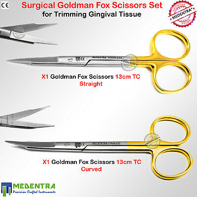 MEDENTRA® Goldman Fox Sutures Scissors Curved Straight Tissues Cutting TC 2PCS