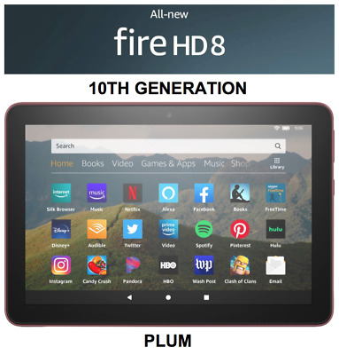 "NEW Amazon Fire HD 8 Tablet With Alexa 8"" Display 32GB (7th Gen) - PUNCH RED"