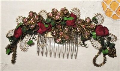 Vintage Beautiful Hair Pin / Comb / Accessories Made in Austria