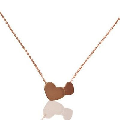 Joint Heart Designer 925 Silver Rose Gold Plated Handmade Necklace Jewelry