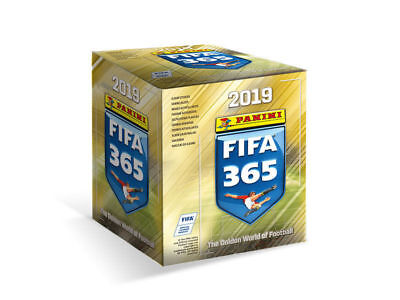 2019 FIFA 365 Soccer Panini Sticker Collection 50 Packs in Box SEALED BOX