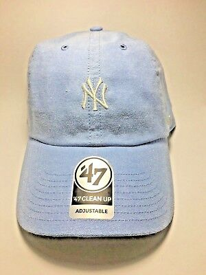 198f0e026 Blue Monument NY Yankees Mini Logo 47 Brand Clean Up Adjustable Free  Shipping