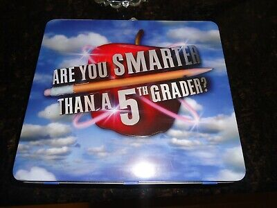 NEW  ARE YOU SMARTER THAN A 5th GRADER Card/CD Game in Carry Box
