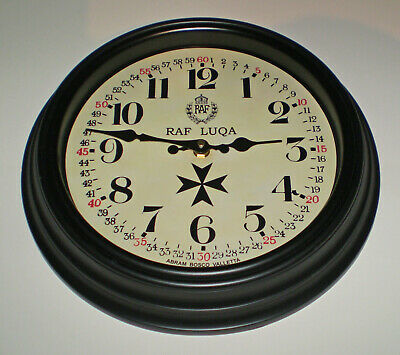 Royal Air Force Style, RAF Luqa, Malta WW2, Souvenir Vintage Style Wall Clock.