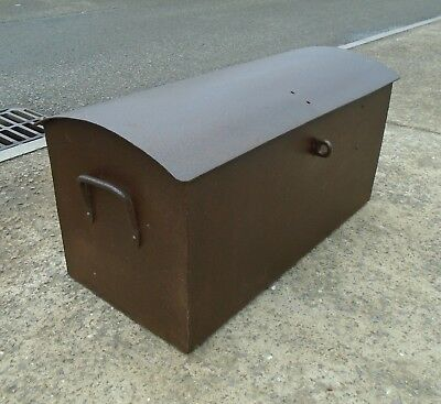 Antique Dome Top Cast Iron Trunk / Strong Box  Delivery Available