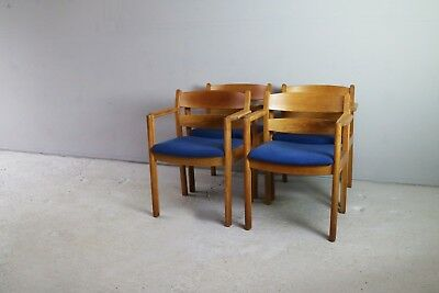 Set of 4 1970's Danish mid century chairs by F. D. B. Mobler
