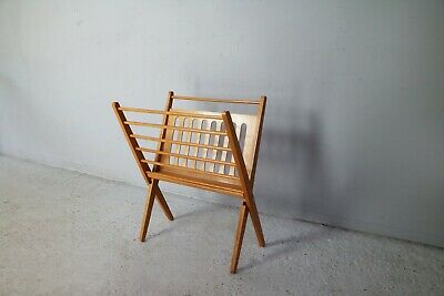 1960's Dutch Cees Braakman magazine rack for Pastoe