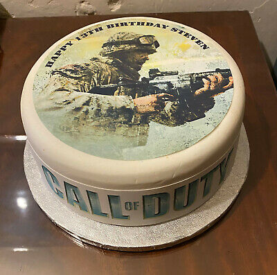 Call of Duty pre-cut Edible Icing Cake Topper or Ribbon 02