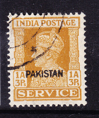 PAKISTAN 1947 GVI SG(see note after SG013) 1a 3r local opt - fine used. Cat £42