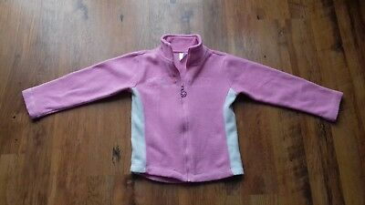 Ladybird girls pink zipped fleece age 7 to 8