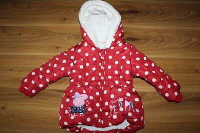 George girls winter PEPPA PIG coat 12-18 months *I'll combine postage*(471)