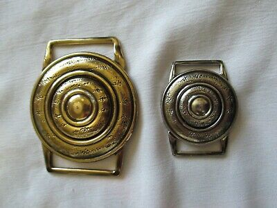 Ges Gesch buckles x 2 Larger 1 gold toned & smaller silver toned