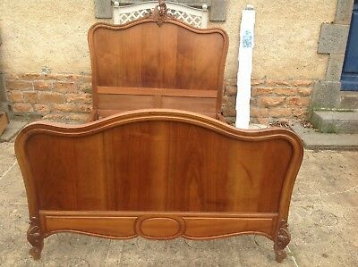 French antique vintage Louis XV style rococo double bed