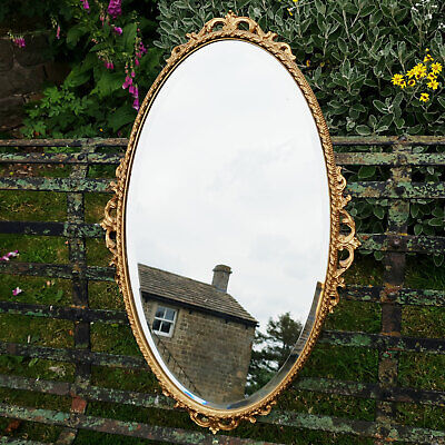 Adams C18th Style Oval Gilt Framed Wall Mirror (Antique)