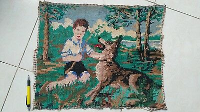 Ancient embroidered picture, 1920-1940, Ukraine
