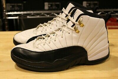 premium selection c52b5 5cd20 Nike Air Jordan 12 XII Taxi White Black Taxi 130690 125 Size 10.5 The  Master Lot