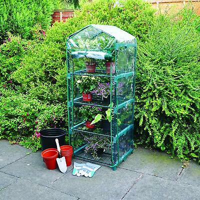 4 Tier Greenhouse Growhouse Frame & Covers Outdoor Garden Plant Grow Bag Clear