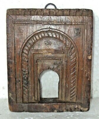 Vintage Indian Wall Hanging Wooden Carved Frame Mughal Style 004