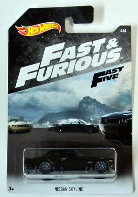 2018 Hot Wheels Nissan Skyline Fast and Furious Fast Five new release MONMC