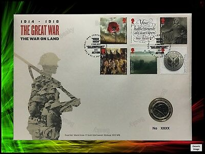 2016 The Great War 1914-1918 Army £2 Two Pound BUPNC