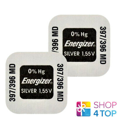 2 Energizer 397 396 Md Sr726Sw Batteries Silver 1.55V Watch Battery Exp 2023 New